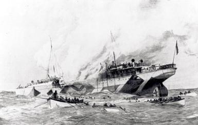 Leinster sinking artist impression