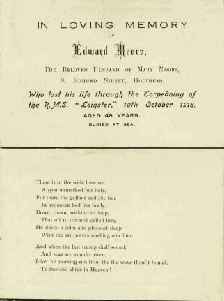 Edward Moors card copy